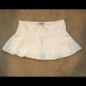 Guess Jeans Authentic- White linen miniskirt- Sm